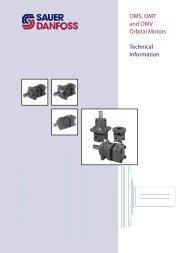 OMS, OMT and OMV Orbital Motors Technical ... - Sauer-Danfoss