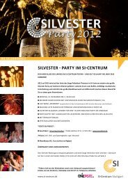 SilveSter - Party im Si-Centrum - SI Centrum Stuttgart