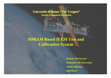 SDRAM Based IEEM Test and Calibration System - SIRAD page