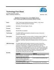 Butadiene Technology from Lummus/BASF used by CJSC - CB&I