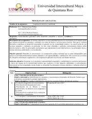 TUAL-210 Legislación turística y ambiental - UIMQRoo