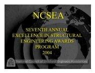 2004 NCSEA Award Winners