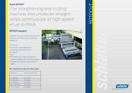 ROTOCUT The straightening and cutting machine that ... - Schlatter