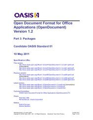 OpenDocument v1.2 part 3 - docs oasis open - Oasis