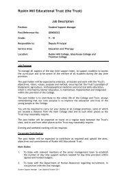 Ruskin Mill Educational Trust (the Trust) - Ruskin Mill Trust