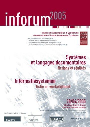 Systèmes et langages documentaires Informatiesystemen - ABD-BVD
