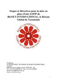 Etapes et Directives pour la mise en place d'une LOOP de BioNET ...