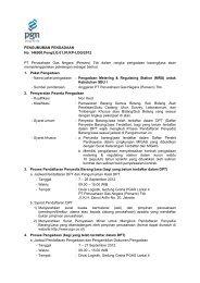 PENGUMUMAN PENGADAAN No. 146900.Peng/LG.01.01/KP-LOG ...