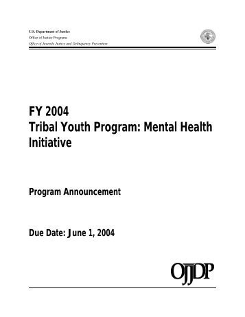Application Requirements - Office of Juvenile Justice and ...