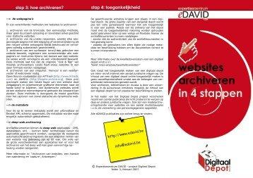 websites archiveren in 4 stappen - eDAVID