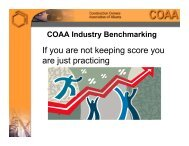 Benchmarking Presentation - Construction Owners Association of ...