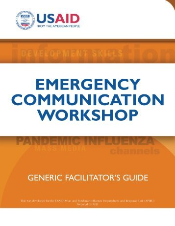 emergency communication workshop - Avian and Pandemic ...