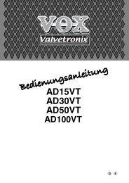 AD15VT/AD30VT/AD50VT/AD100VT Owner's Manual - Vox