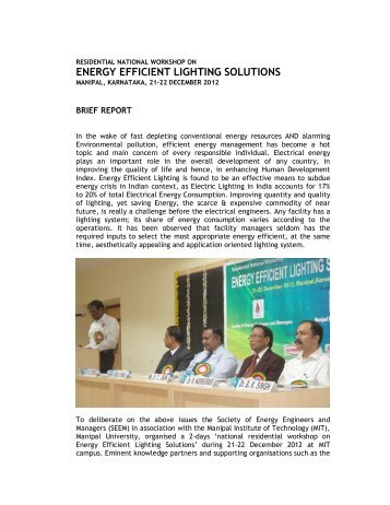 energy efficient lighting solutions - Society of Energy Engineers ...