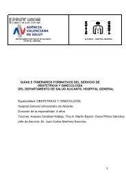 OBSTETRICIA Y GINECOLOGIA - Agencia Valenciana de Salud