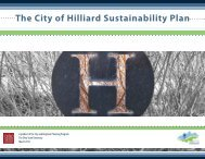 The City of Hilliard Sustainability Plan