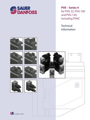 PVE – Series 4 for PVG 32, PVG 100 and PVG 120 ... - Sauer-Danfoss