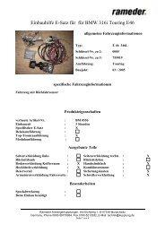 Einbauhilfe E-Satz für für BMW 316i Touring E46