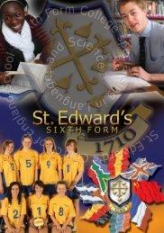 Sixth Form - St Edward's C of E School