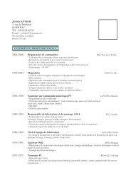 Jérôme ENTIER 3, rue de Bordeaux 64 000 PAU Tél. : 05 05 05 05 ...