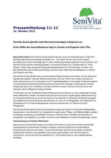 Pressemitteilung 11/11 - SeniVita