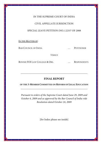 FINALREPORT - The Bar Council of India