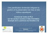 Contrat de rivière Touloubre et PLU de Venelles - Agence régionale ...