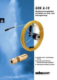 GOK A-10 Glasfaserortungskabel mit Molch zur Leck - SebaKMT
