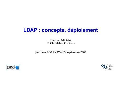 LDAP : concepts, déploiement