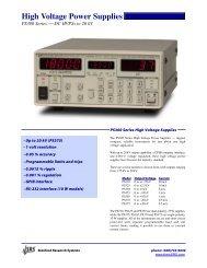 High Voltage Power Supplies - TR instruments