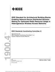 IEEE Std 1900.4™-2009, IEEE Standard for ... - M. Javad Omidi