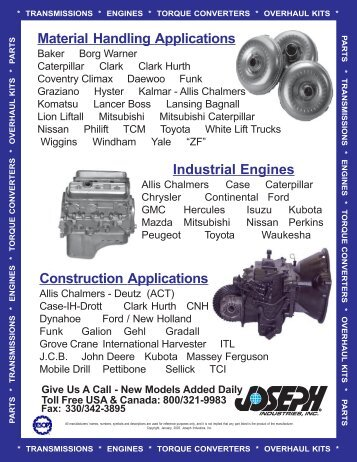 Material Handling Applications - Joseph Industries, Inc.