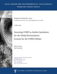 Assessing UNEP as Anchor Institution for the Global Environment ...