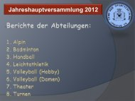 Präsentation der Jahreshauptversammlung 2012 (PDF)