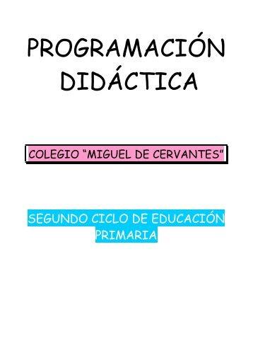 PROGRAMACIÓN DIDÁCTICA - Portales Web de Centros ...