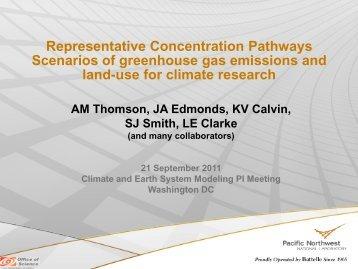 Representative Concentration Pathways Scenarios of greenhouse ...