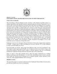 EXPANSION OF BYLAKUPEE BRANCH CLINIC ... - Men-Tsee-Khang