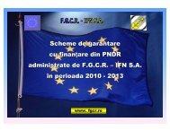 Scheme de garantare cu finanţare din PNDR administrate de FGCR