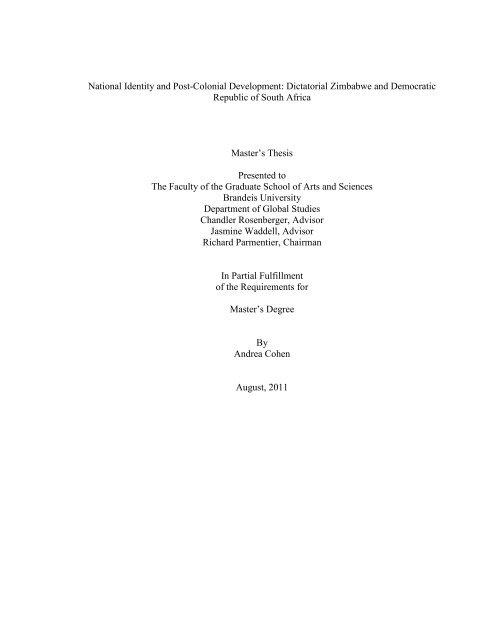 brandeis thesis repository