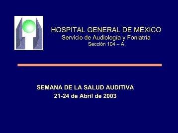 Semana de la Salud Auditiva - Hospital General de México