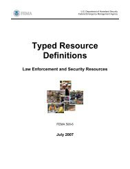 Law Enforcement and Security Resources - Federal Emergency ...