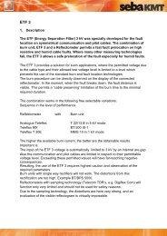 1. Description The ETF (Energy Separation Filter) 3 kV ... - SebaKMT