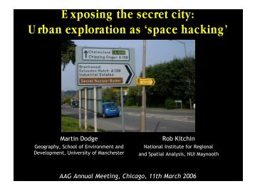 Exposing the secret city: Urban exploration as 'space hacking' - UCL