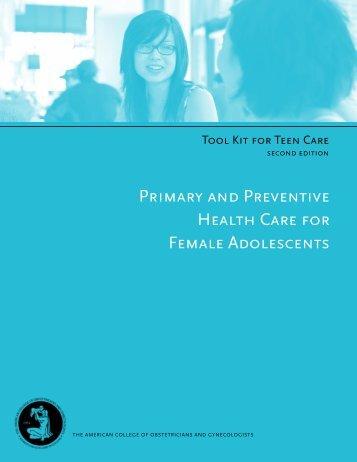 primary and preventive health care for female adolescents