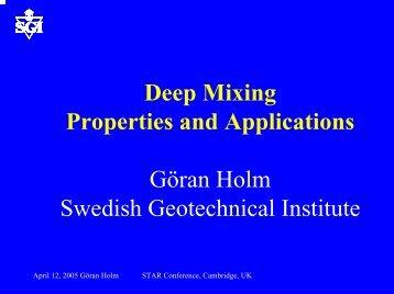 Deep Mixing Properties and Applications Göran Holm ... - Starnet