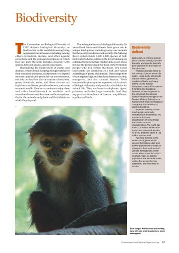 Biodiversity - GMS-EOC