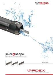 micro scopeMicro Werkzeuge für kleine Bohrungen - MAS Tools ...