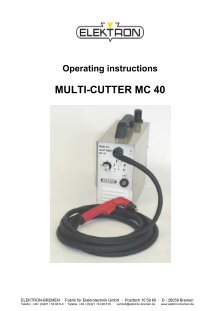 Replacement Parts for Elektron Multi-Cutter MC 40