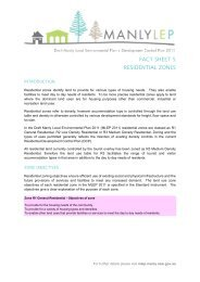 FACT SHEET 5 RESIDENTIAL ZONES - Manly LEP