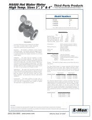 H4400 High Temperature Hot Water Meters - E-Mon